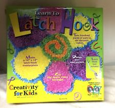 Kid's Learn to Latch Hook Kit Creativity For Kids Faber Castell Unused #619A