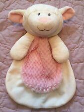 White Lamb Security Blanket - Sheep Baby Lovey - Baby Gear - Plush Animal SQUEAK