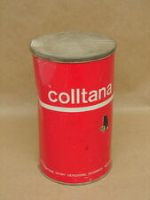 Vintage NOS Colltana Ski Wax Red Can Tin Advertisement Inter-Montana Sport