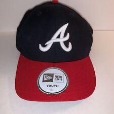 New Era 59Fifty Cap MLB Atlanta Braves Boys Kids Youth Size Navy Red Hat