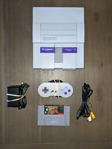 Super Nintendo SNES System/Console With Donkey Kong Country, New Pin Connector!!