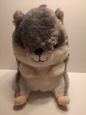"New listing Nanco Large Hamster Plush 13"" Stuffed Animal Toy Gray Soft Glitter Eyes"