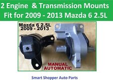 2 pcs Engine & Transmission Mounts Fit for 2009 2010 2011 2012 2013 Mazda 6 2.5L