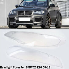 2xHeadlight Cover Lampshade Lens Left + Right Lamp Fit for BMW X5 E70 2007-2013