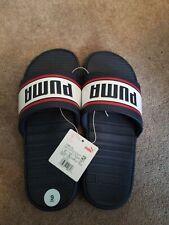 PUMA Men's Popcat Slides  Sandal Blue And White Size 9 NEW Beach Summer