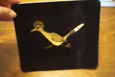 Vintage Couroc Inlaid Serving Tray Road Runner Monterey, Ca
