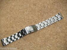 SEIKO 19mm 2 TONE STAINLESS STEEL WATCH STRAP FLAT LUGEARS 4984-Z.E