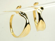 Tiffany & Co Cuff Hoop Earrings Retail $10,000 Large 18K Yellow Gold Authentic
