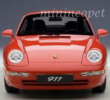 AUTOart 78132 1995 95 PORSCHE CARRERA 911 993 1/18 DIECAST MODEL CAR RED