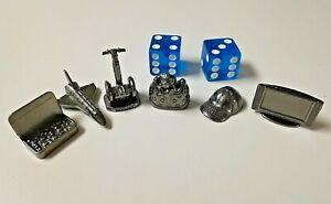 Monopoly 6 Tokens & Blue Dice Authentic Altoids Segway Space Shuttle Hat Edition