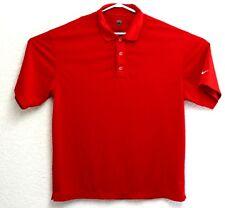 NIKE GOLF DRI FIT Men's Red Short Sleeve Polo Shirt Size Large EUC