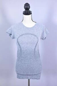 Lululemon Run Swiftly Tech SS Shirt Gray Speckle Women's 6