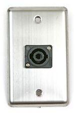 Osp Duplex Wall Plate w/1-Neutrik Speakon Connector