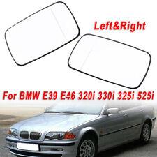 For BMW E39 E46 323i 330xi 325i 525i 1998-2006 Pair Side Mirror Glasses Heated