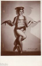 BD815 Carte Photo vintage card RPPC Femme woman pin-up sexy costume spectacle