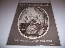 1936 BROADHURST THEATRE PLAYBILL - VICTORIA REGINA - HELEN HAYES VINCENT PRICE