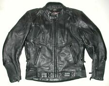 XPERT Sport KEVLAR Men's Black Leather Motorcycle Biker Jacket, Sz 42