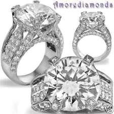 13.70 ct K VS round brilliant natural diamond engagement antique ring platinum
