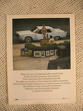 LINCOLN CONTINENTAL PAN AM SOUTH AMERICA  OLD  1964 ADS