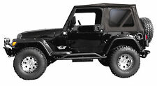 2007-2009 JEEP WRANGLER BLACK SOFT TOP  & TINTED REAR WINDOWS 2 DOOR