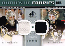 11-12 SP Game Used DUAL Authentic FABRICS xx/100 Made! FLEURY & JOHNSON