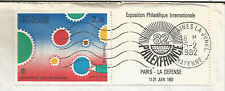 """France; 1982 """"PHILEXFRANCE 82"""" INTERNATIONAL STAMP EXHIBITION, Paris sur le couvercle"""