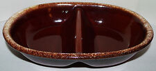 Vintage HULL Pottery (H.P. Co.) Brown Divided Casserole Dish - USA - Oven Proof