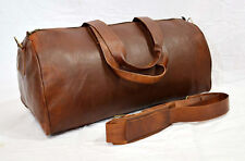 NEW Vintage Handmade Goat Leather Duffle Bag,Gym Bag,Overnight Bag Square 23""