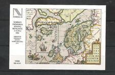 Island  Block 6  NORDIA 84  Landkarte   ** (mnh)