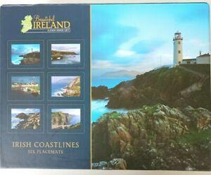 John Hinde Original 'Beautiful Ireland' Coastlines Placemats Tablemats Set of 6
