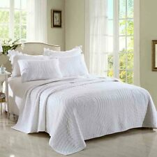 Crystal White Coverlet by Macey & Moore fits King | Queen Mega