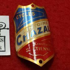 PLAQUE DE VÉLO ANCIENNE CYCLES ANTOINE CHAZAL ST ETIENNE - REF27061