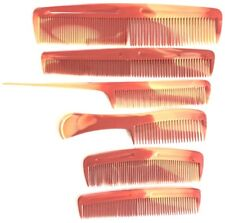 PETTINE PER CAPELLI MANICO SOTTILE marrone Set di 6 pezzi