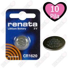 10X Renata Batteria Cr1620 Litio 3v Pulsante Batteria Cr 1620 Pile a Bottone