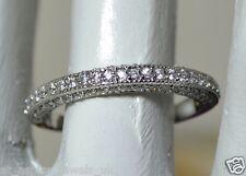 0.80CT BRILLIANT CUT DIAMOND WEDDING BAND SOLID 14 ct WHITE FOR # 151487435532
