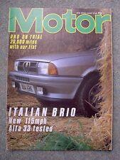 Motor (18 Aug 1984) BMW Alpina B9 3.5, Alfa 33 Green Cloverleaf, Fiat Uno, 500