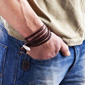 niki-orange® Jungle Brace wrist band, SURFER STYLE brown leather WRISTBAND shb