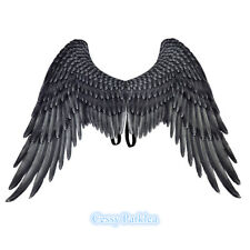 Deluxe Large Black White Angel Wings Fairy Costume Accessory Prop Adult 105cm