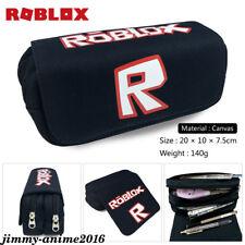 Game roblox Pencil Case Cartoon pen bag  Zipper  Canvas Makeup Bag Stationery