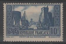 "FRANCE STAMP TIMBRE 261 "" PORT LA ROCHELLE 10F BLEU TYPE III "" NEUF xx TTB  N726"