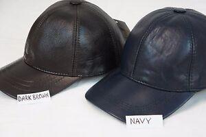 New 100% Genuine Real Lambskin Leather Baseball Cap Hat Sport Visor 12 COLORS