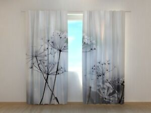 Window Curtain Printed with Frozen Flowers image Wellmira Made to Measure