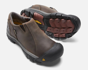 Keen Brixen Low WP Slate Black/Madder Brown Slip-On Loafer Men's sizes 7-14/NEW!