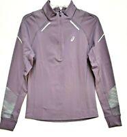 ASICS Women's Lite-Show 2 Winter 1/2 Zip Gym Top Cloths 2012A433 Lavender Sz S