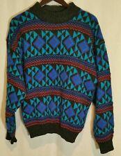 Vintage Concrete Mix Aztec Crew Neck Sweater XL Extra Large Coogi Style Cosby