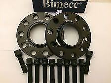Audi Bimecc Black Alloy Wheel Spacers 5x112 66.6 15mm + Black Bolts