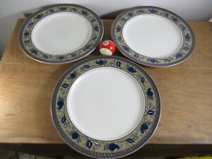 Mikasa Intaglio Arabella Set 3 Large Plates 28 cm Excellent Cond