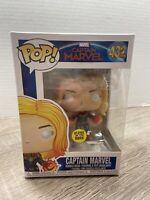Funko Pop! Movies | Captain Marvel #432 Glow In The Dark Walmart Exclusive