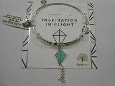 Alex and Ani Inspiration In Flight Bangle Bracelet Shiny Silver Nwtbc