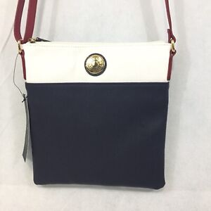 Tommy Hilfiger Spell Out Decal Xbody Crossbody Bag Purse Faux Leather  NWT $88